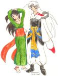 Another Rin and Sesshomaru by Mikha