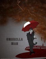 Umbrella Man in the Rusted Rain by SleepDepJoel