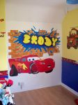 Brody Cars wall mural by billywallwork525