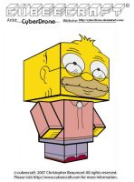 Cubeecraft - Grampa Simpson by CyberDrone