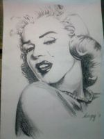 Marilyn Monroe by harpyshizzle