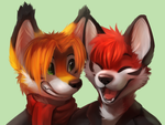 [HC] Jamesfoxbr and Jonhs-Kitsune by thanshuhai