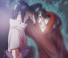coloring: Sasuke and Itachi by arukeshi