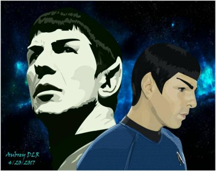 Classic and New Spock by 9018Masterchic