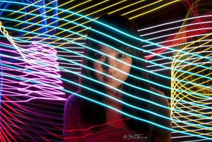 Portrait with Led Lights by BenHeine