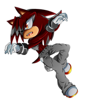 .:PC:. Darren Redblast The Hedgehog -1/2 by KaoMaou