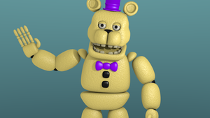 FNaF4: Unwithered Fredbear model by DareLOL