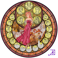 Stained Glass: Giselle by Akili-Amethyst