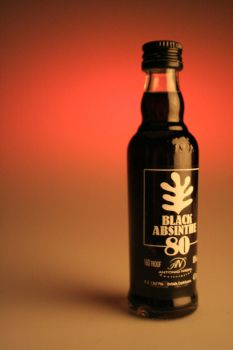 Black Absinthe Bottle by hairyrob