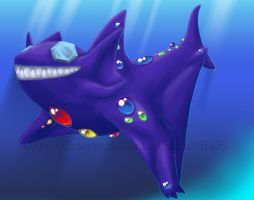 Sableye Shark by WindieDragon