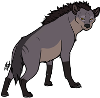 Dowager - my Hyena character by BleachTheNight