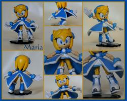 Maria- A Custom Sonic Figurine by wylf