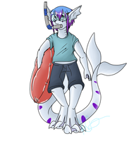 Going swimming by Kaito-Fletcher