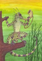 Horned Tree Lizard Herald - Tribal Lizards by ZhaKrisstol