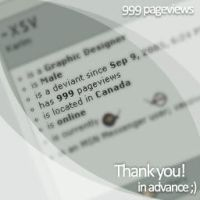 999 pageviews by XSV