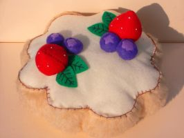 Felt Fruit Tart Plush by thislittlechicken