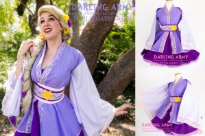 Rapunzel Tangled Cosplay Kimono Dress Update by DarlingArmy