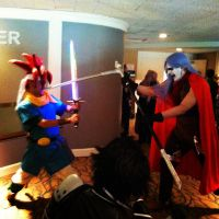 AnimeNEXT 2013-Magus vs Chrono 2 by Shinto-Cetra