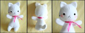 Cute White Kitten Plushie by HezaChan