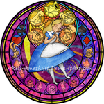 Stained Glass: Alice -Redo- -Vector- by Akili-Amethyst