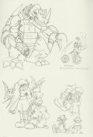 DZ Sketch Dump 20something by BlueIke