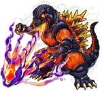 Monster-Strike for Burning Godzilla(TOHO) by godzilla-image