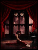 The Lady in red by RazielMB