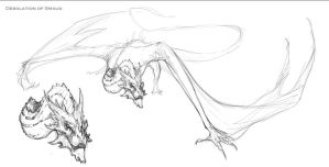Smaug Sketch by Teggy
