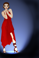 Red Dress by Dhria