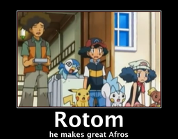 Rotom Afro Poster by Rotommowtom