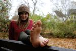 The joy of autumn - Sweetest smiling by foot-portrait