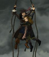 Jack and Elizabeth Fly Away by simara24
