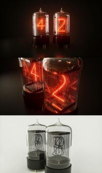 Some Nixie Tubes by NIKOMEDIA