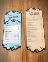 Mousse Cafe PVC Menu by Awooo