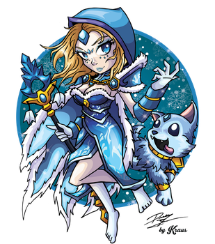 Rylai the Crystal Maiden by Kraus-Illustration