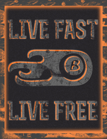 Live Fast Live Free Glow-In-The-Dark Shirt Design by LOrtiz89