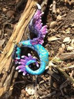 Winged Serpent Pendant by omfgitsbutter