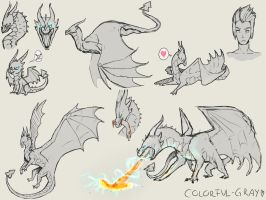 Special Commission: Mushussu sketch sheet by Colorful-Gray
