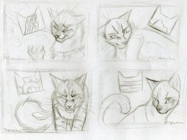 Warriors 4 Clans Sketch 1 by KasaraWolf
