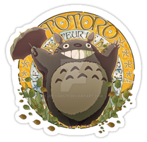 My Neighbor Totoro - Art Nouveau by jdesigns79