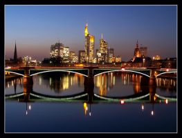 The skyline of Frankfurt II by kine80