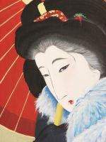 Japanese woman's face by IronAries
