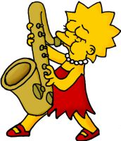 Lisa and her Sax by simpson-freak