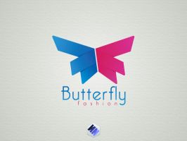 Butterfly fashion vector logo by Szesze15