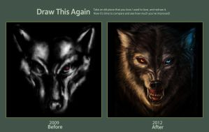 Draw this Again Challenge: Canis Lupus by jekowekow