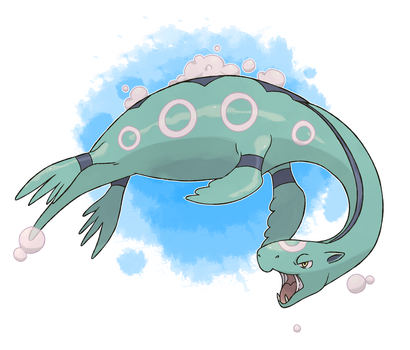 Fakemon - Water Starter Final Evolution by DevilDman