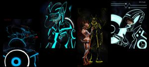 Tron Quickies by FablePaint