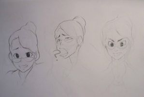 3 expression study of Monica by fuchy