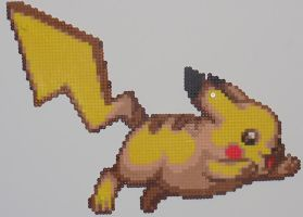 Pikachu Bead Sprite by TheSuperBoris
