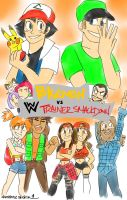 [COMMISSION] Pokemon and WWE poster by Shinkumancer